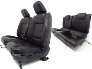 Ford Mustang Seats Black Leather Front Rear Seats 2005 2006 2007 2008 2009