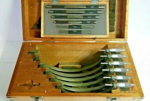 Mitutoyo 6 12 Outside Micrometer Set With 6 Standard Rods