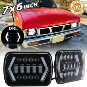 7x6 5x7 Led Headlight Angel Eyes Drl Turn Signal Light For Jeep Toyota Lamp 2p