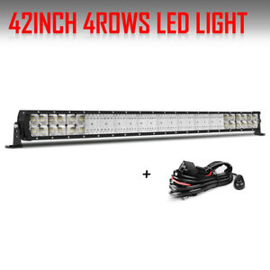 42inch 5152w Cree Straight Led Light Bar Flood Spot Combo Offroad Truck 4wd 44