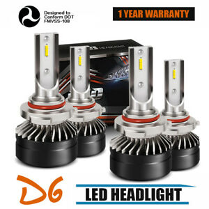 9005 9006 Combo Led Headlight Conversion High low Beams 6000k White 120w 12000lm