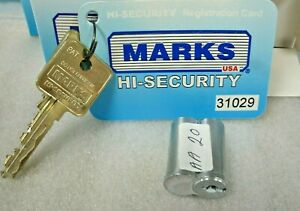 Lot Of 20 Marks High Security Keyed Lock Cores key cards 50 Blanks 2 Control Key