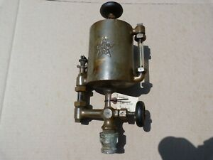 Large Powell 1qt Brass Lubricator Oiler Steam Engine Hit Miss Gas