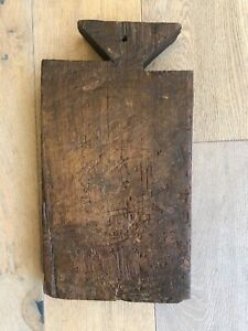 Vintage French Bread Board Cutting Board Hand Made 1910 1930s