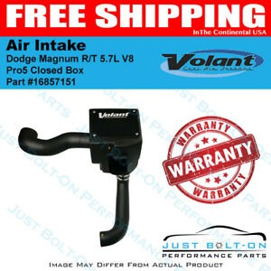 Volant 04 08 Dodge Magnum R t 5 7l V8 Pro5 Closed Box Air Intake 16857151