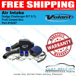 Volant 11 19 Dodge Challenger R t 5 7l Pro5 Closed Box Air Intake 16257