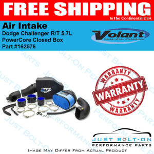 Volant 11 19 Dodge Challenger R t 5 7l Powercore Closed Box Air Intake 162576