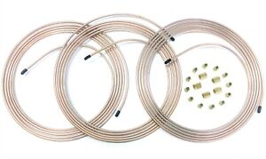 45 Ft Of 3 16 Copper Nickel Brake Line W Fittings Unions 3 15 Coils