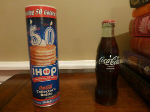 IHOP Celebrating 50 Years Anniverary Coca Cola Collector's Bottle 2008 Coke