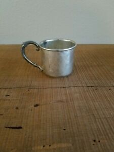 Vintage Web Sterling Silver Baby Cup Pattern 53 No Monogram Perfect Patina
