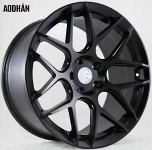 18x9 Aodhan Ls002 5x100 30 Matte Black Concave Wheels Set Of 4