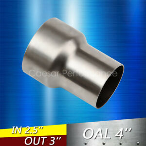 2 5 Od To 3 Id Universal Exhaust Pipe To Component Adapter Reducer Connector