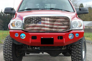 Premium Dodge Ram Old Glory Bug Screen Grill Cover All Years Supported