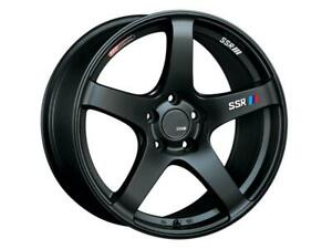 Ssr Gtv01 18x8 5 5x100 44mm Offset Flat Black Wheel Rim Fits 2002 05 Subaru Wrx
