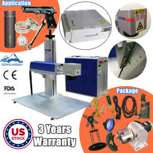 Usa 20w Split Fiber Laser Marking Engraver Rotary Axis With Raycus Laser Source