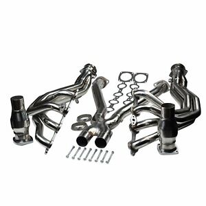 For 97 04 Chevy Corvette 5 7l Long Tube 1 3 4 Exhaust Headers System