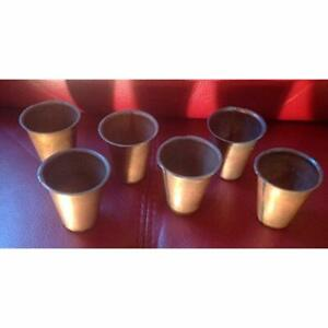 6 Primitive Brass Sugar Mold Plant Or Candle Cups Home Kitchen