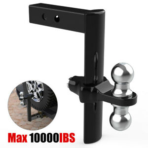 Steel Rapid Hitch Ball Mount Trailer Hitch Drop Rise Adjustable Fit 2 Receiver