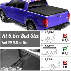 For 99 07 Silverado Sierra 1500 Lock Hard Solid Tri Fold Bed Tonneau Cover 6 5ft