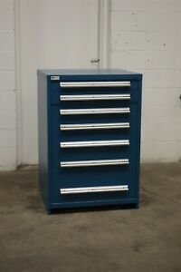 Used Stanley Vidmar 7 Drawer Cabinet 44 Inch Industrial Toolbox Storage 1777