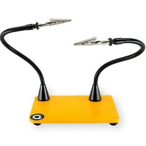 Quadhands Mini Helping Hands Third Hand Soldering Tool Two Flexible Arms