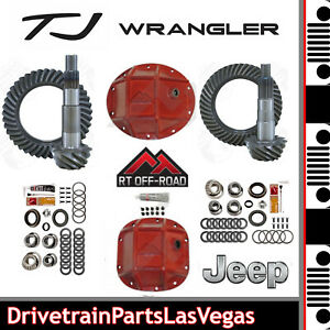 Jeep Tj Dana 35 30 4 88 Ring Pinion Re Gear Offroad Hd Red Covers Master Kits