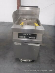 Dean Cfd160gnc Gas Single Digital Deep Fryer With Grease Filtration System