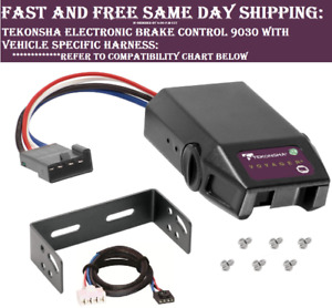 9030 Tekonsha Brake Control With Wiring Harness 3045 For 2011 2020 Dodge Jeep