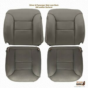 1995 1999 Chevy Tahoe Suburban Silverado Front Bottoms tops Leather Cover Gray