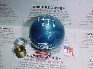 Ford Racing 6 Speed Licensed Ford Shift Knob Blue Pearl