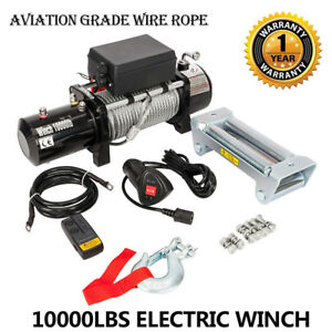 10000lbs 12v Electric Winch Truck Suv Durable Remote Control For16 Jeep Wrangler