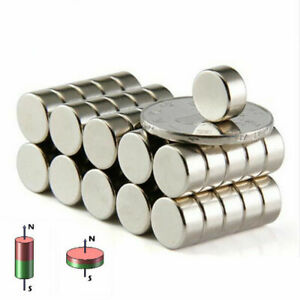 1 100pcs Super Strong Magnet Small Magnet Cylinder Ring N52 Neodymium Magnet d