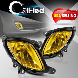 For 2010 2012 Hyundai Genesis Coupe Yellow Bumper Fog Lights W Complete Kit L