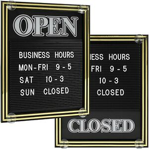 Open And Closed Sign With Letter Board Includes 447 Characters 15 25 X 12 5 In