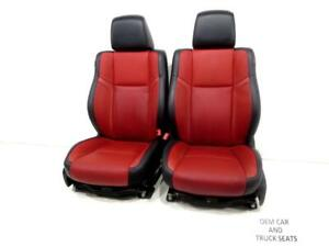 Dodge Charger R t Oem Red Leather Seats Heated A c 2013 2014 2015 2016 2017