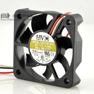 Avc 5010 12v 0 15a C5010b12hv 5cm cm 3 wire Cpu Chassis Cooling Fan