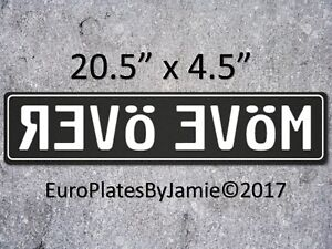 Euro Style Tag Bmw European License Plate Move Over White On Black
