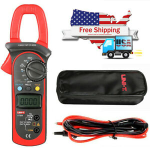 Uni t Ut203 Digital Handheld Clamp Multimeter Tester Meter Ce Ac Dc Volt Us Ship
