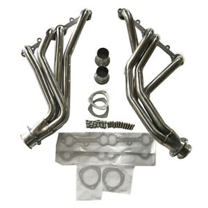 For 84 91 Gmt C K 5 0 5 7 Sbc Stainless Racing Manifold Long Tube Header Exhaust