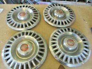1967 1968 Pontiac Stainless Steel Hubcaps set Of Four