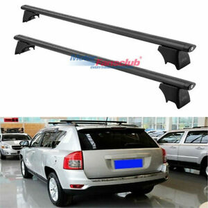 2007 2010 For Jeep Compass Crossbar Top Roof Rack Bars Luggage Carrier Black