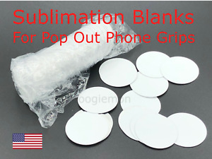 Lot 50 Premium Sublimation Circle Blanks Kit For Phone Grips Disc Only