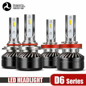 9005 h11 Combo Led Headlight Bulbs High low Beam Canbus 6000k White 120w 24000lm