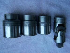1951 Snap On Lot L 82 Ldh 522 Ldh 422a Ldh 342 Sockets Universal Adapter