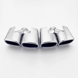 Quad Square Duplex Performance Exhaust Tip Amg Style Look 2 1 4 Inlet Polished
