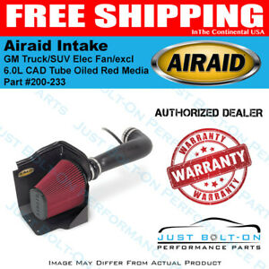 Airaid 09 13 Gm Truck suv Elec Fan excl 11 6 0l Cad Intake Tube Oiled Red Media