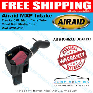 Airaid 11 15 Gm Trucks 6 0l Mech Fans Mxp Intake Tube Oiled Red Media Filter