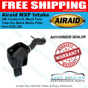 Airaid 11 15 Gm Trucks 6 0l Mech Fans Mxp Intake Tube Dry Black Media Filter