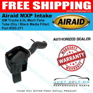 Airaid 09 10 Gm Trucks 6 0l Mech Fans Mxp Intake Tube Dry Black Media Filter