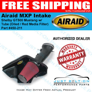 Airaid 07 09 Shelby Gt500 Mustang Mxp Intake W Tube Oiled Red Media Filter